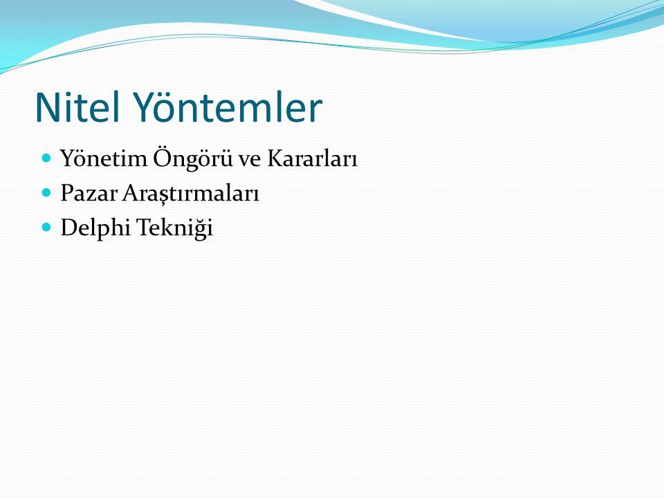 Nitel Yöntemler Yönetim Öngörü ve Kararları Pazar Araştırmaları Delphi Tekniği