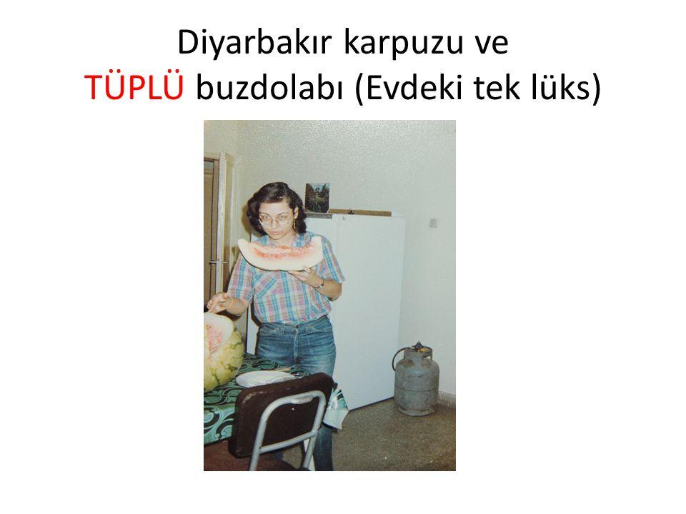 Diyarbakır karpuzu ve TÜPLÜ buzdolabı (Evdeki tek lüks)