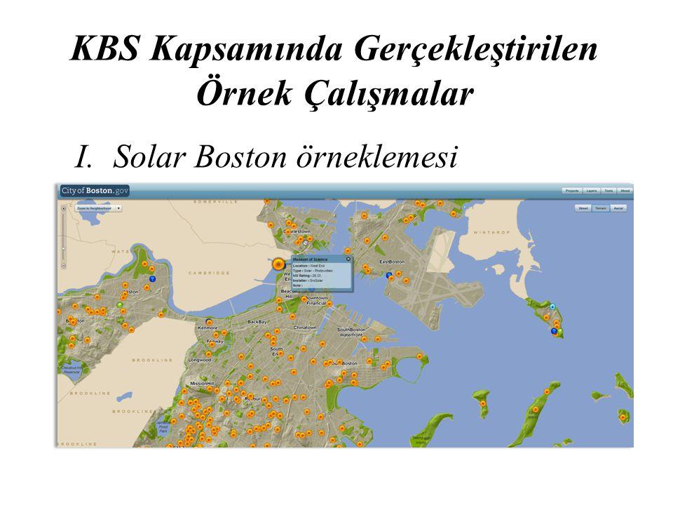 KBS Kapsamında Gerçekleştirilen Örnek Çalışmalar I. Solar Boston örneklemesi