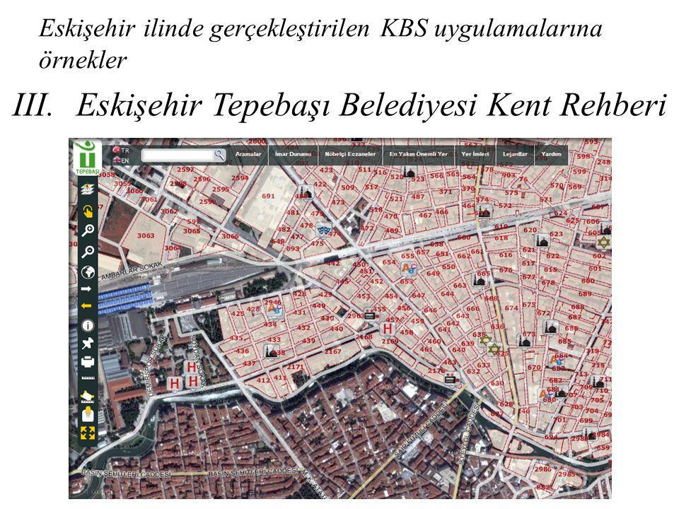 Eskişehir ilinde gerçekleştirilen KBS uygulamalarına örnekler III.Eskişehir Tepebaşı Belediyesi Kent Rehberi