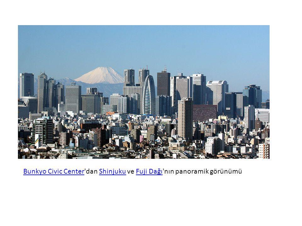 Bunkyo Civic CenterBunkyo Civic Center dan Shinjuku ve Fuji Dağı nın panoramik görünümüShinjukuFuji Dağı