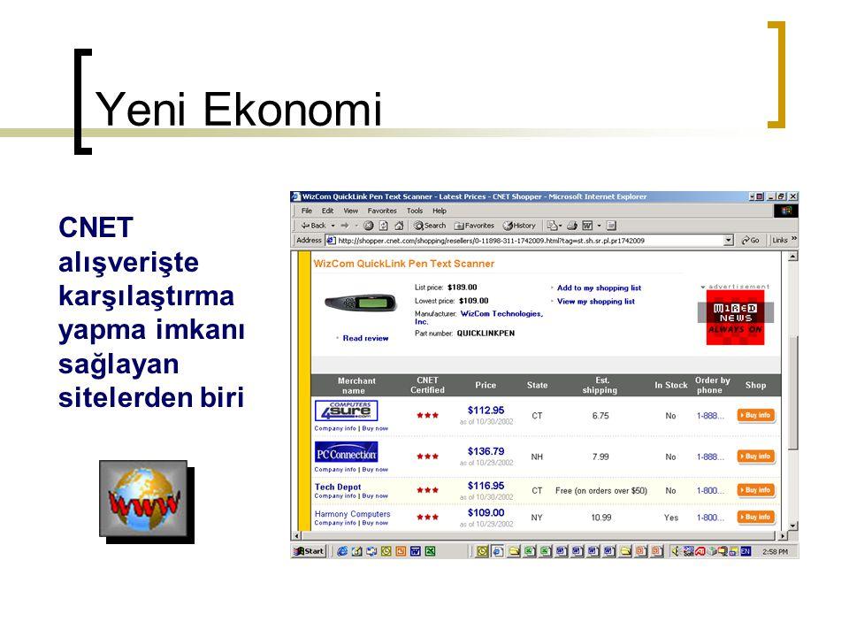 Yeni Ekonomi CNET alışverişte karşılaştırma yapma imkanı sağlayan sitelerden biri