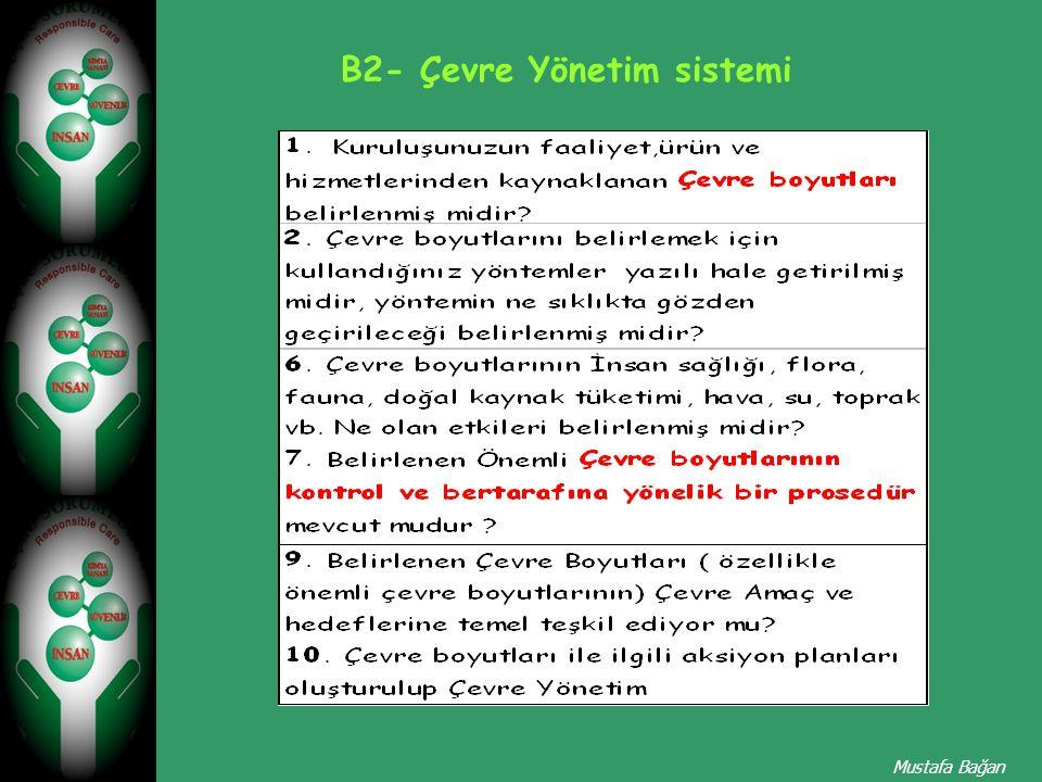 B2- Çevre Yönetim sistemi Mustafa Bağan