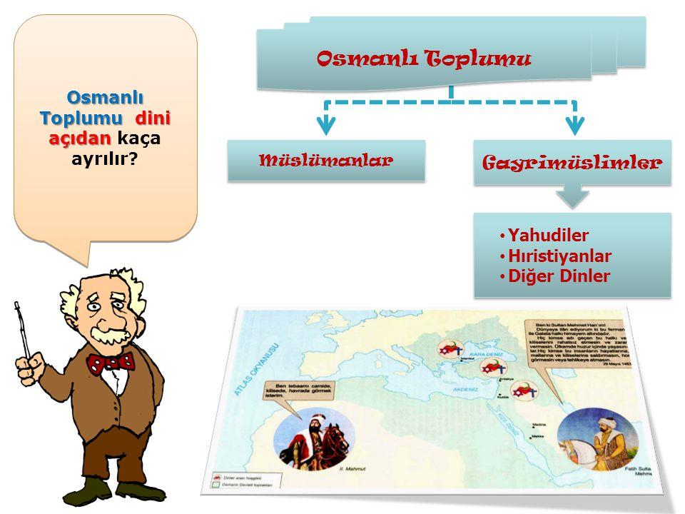 Osmanlı Toplumudini açıdan Osmanlı Toplumu dini açıdan kaça ayrılır .