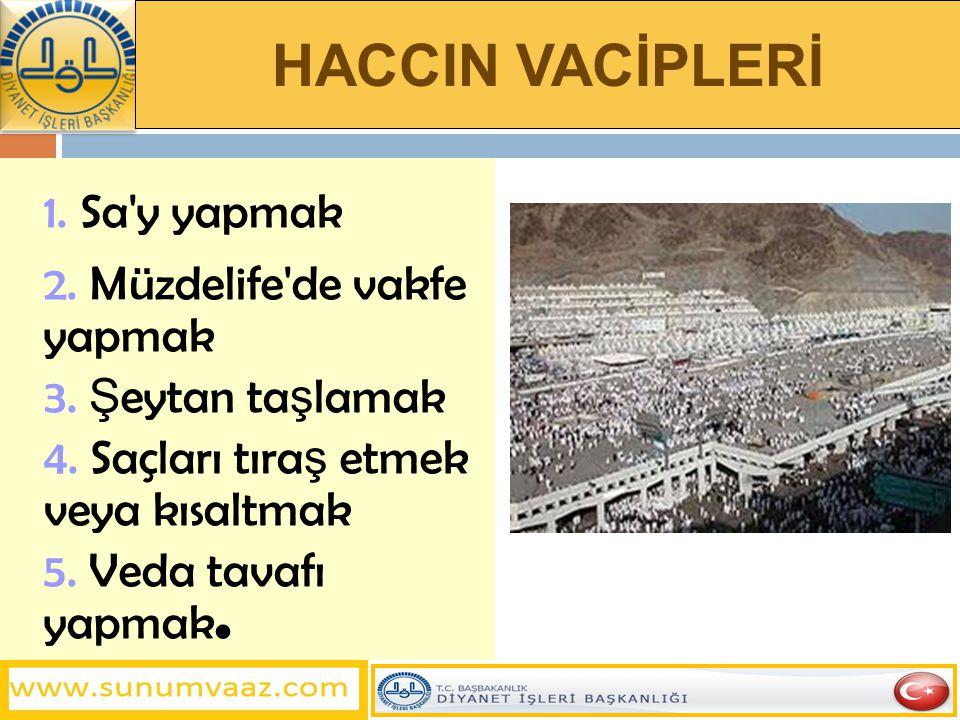 HACCIN SÜNNETLER 1.Kudüm tavafı 2. Mekke, Arafat ve Mina da hutbe okunması 3.