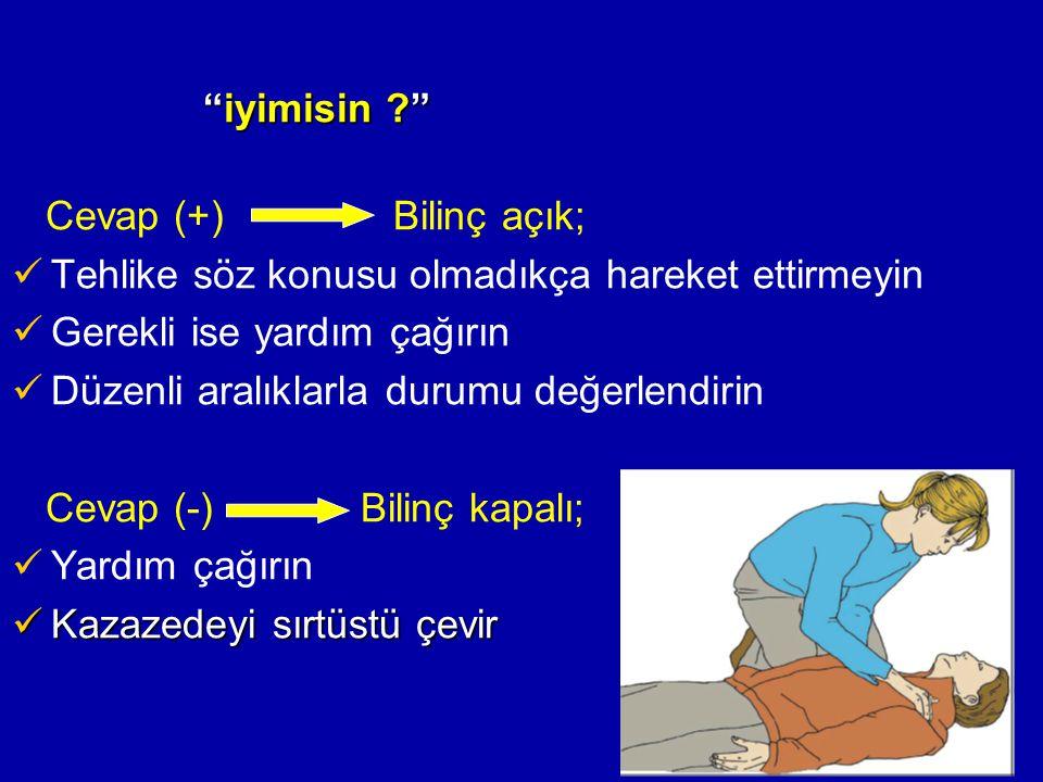 Ventilasyon; CPR'da ventilasyonun amacı yeterli oksijenasyonu sürdürmektir 1.