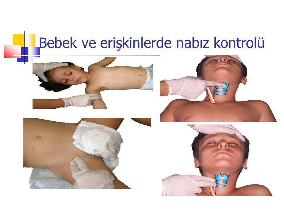 Bebek ve erişkinlerde nabız kontrolü