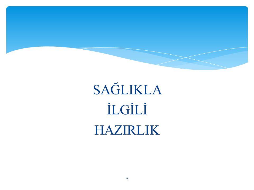 SAĞLIKLA İLGİLİ HAZIRLIK 13