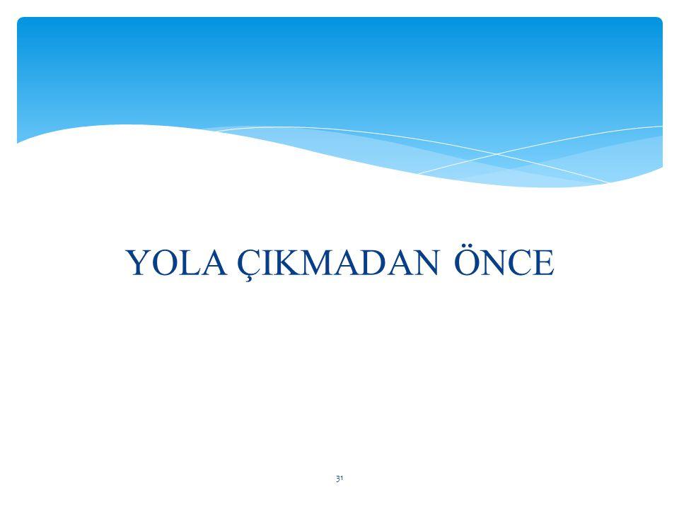 YOLA ÇIKMADAN ÖNCE 31