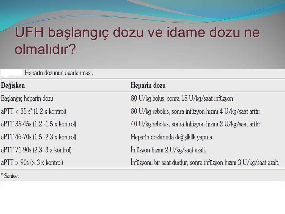 UFH tedavisi sırasında monitörizasyon nasıl ve hangi sıklıkta ve doz ayarı nasıl yapılmalıdır.