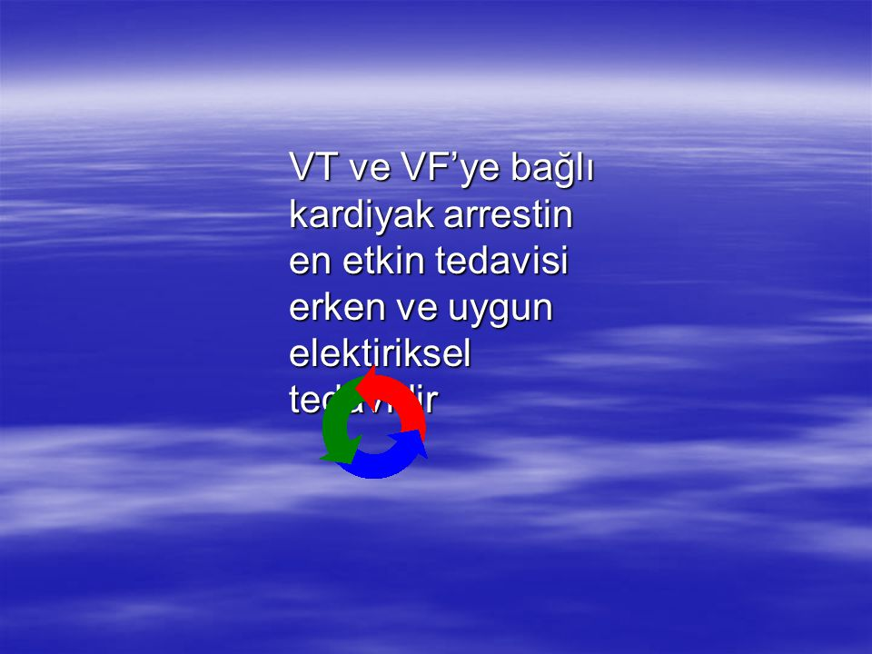 VT ve VF'ye bağlı kardiyak arrestin en etkin tedavisi erken ve uygun elektiriksel tedavidir