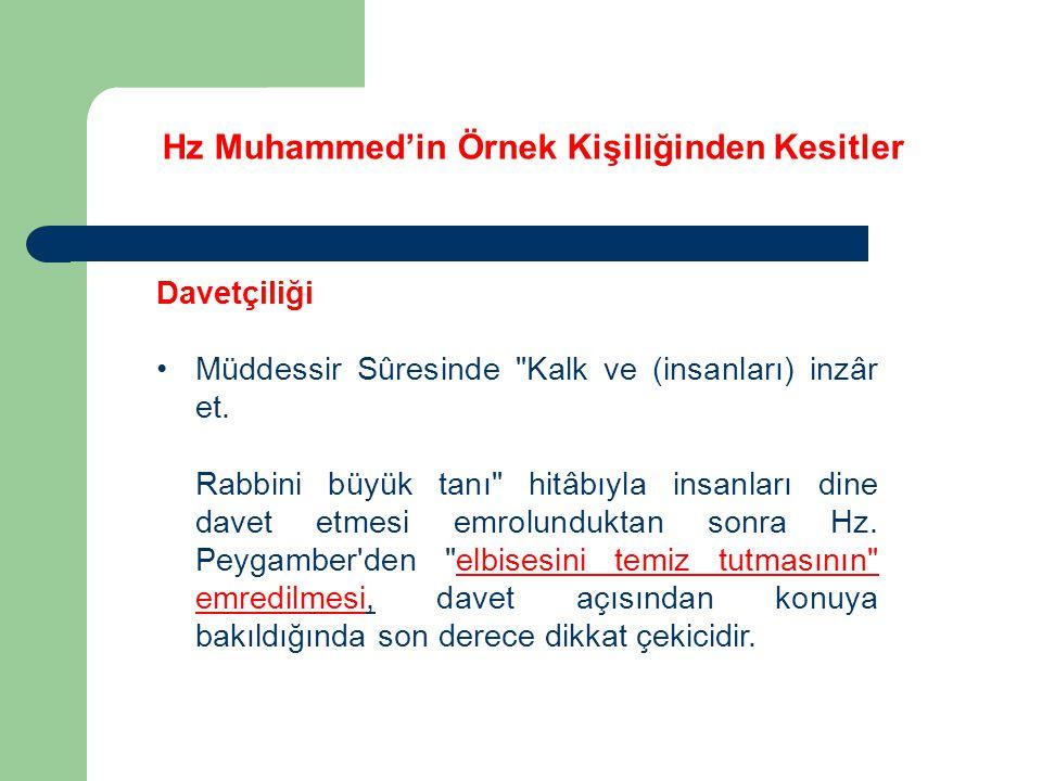 Hz Muhammed'in Örnek Kişiliğinden Kesitler Davetçiliği Müddessir Sûresinde