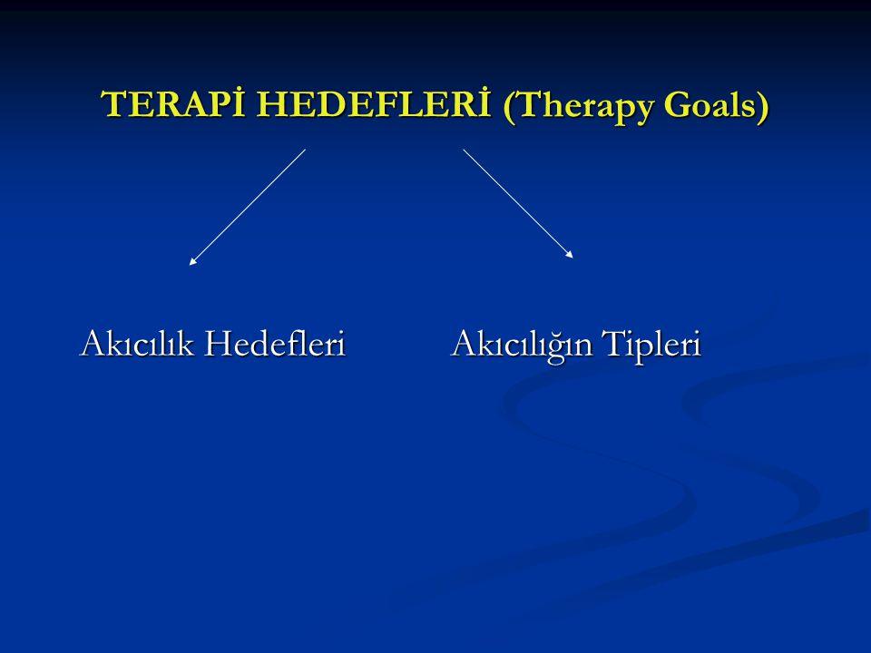 TERAPİ HEDEFLERİ (Therapy Goals) Akıcılık Hedefleri Akıcılığın Tipleri Akıcılık Hedefleri Akıcılığın Tipleri