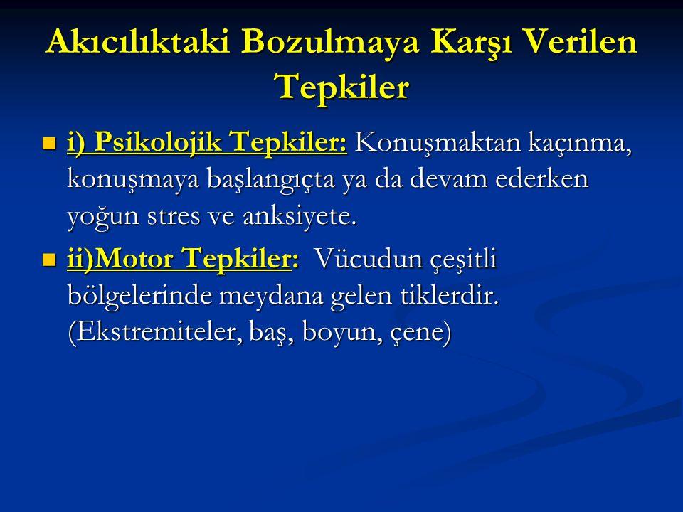 Kekemeliğin Türkiye'de Görülme Sıklığı Kekemeliğin erken dönem görülme sıklığı: % 4 iken, Kekemeliğin erken dönem görülme sıklığı: % 4 iken, Kekemelikte genel sıklık; % 1'dir.