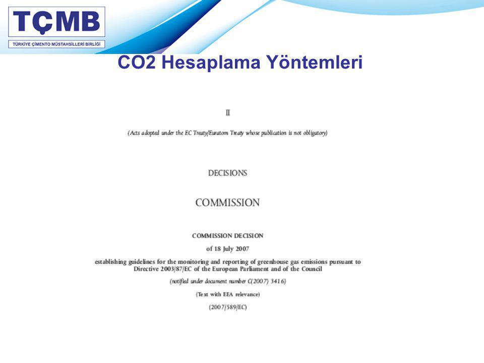 CO2 Hesaplama Yöntemleri