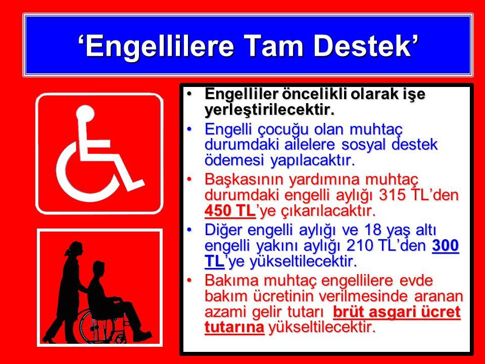 'Engellilere Tam Destek' Engelliler öncelikli olarak işe yerleştirilecektir.Engelliler öncelikli olarak işe yerleştirilecektir.