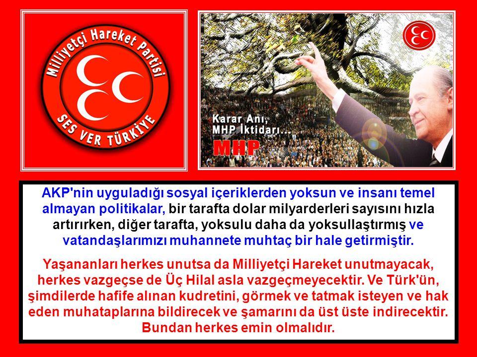 AKP nin uyguladığı sosyal içeriklerden yoksun ve insanı temel almayan politikalar, bir tarafta dolar milyarderleri sayısını hızla artırırken, diğer tarafta, yoksulu daha da yoksullaştırmış ve vatandaşlarımızı muhannete muhtaç bir hale getirmiştir.