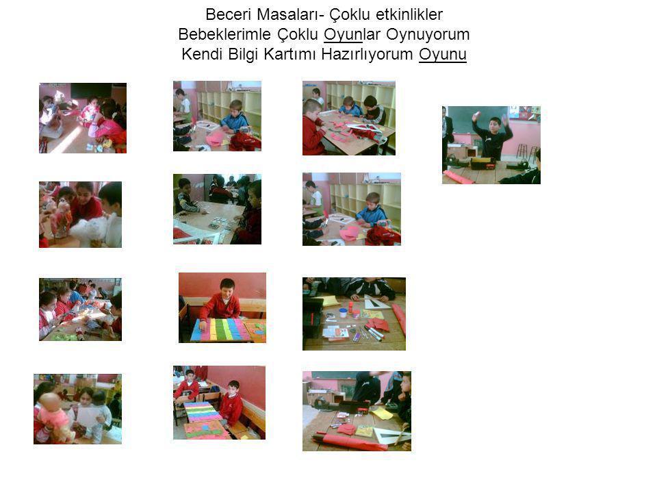 Beceri Masaları- Çoklu etkinlikler Bebeklerimle Çoklu Oyunlar Oynuyorum Kendi Bilgi Kartımı Hazırlıyorum Oyunu