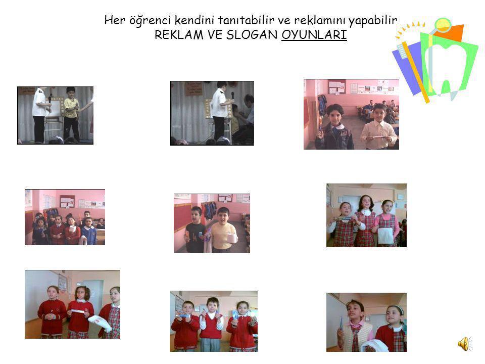 Her öğrenci kendini tanıtabilir ve reklamını yapabilir REKLAM VE SLOGAN OYUNLARI