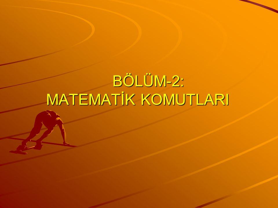 MAİN OB1 PAREMETRELİ ALT PROGRAM (daha sonra)
