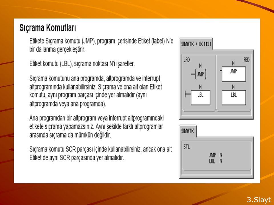 KESME ALT PROGRAMLARI İnterrupt (Kesme) Komutları : ENI,DISI, ATCH, DTCH İnterrupt'lara İzin Ver komutu Enable İnterrupt:(ENI), tüm ilişkilendirilmiş interrupt olgularının işlenmesine izin verir.