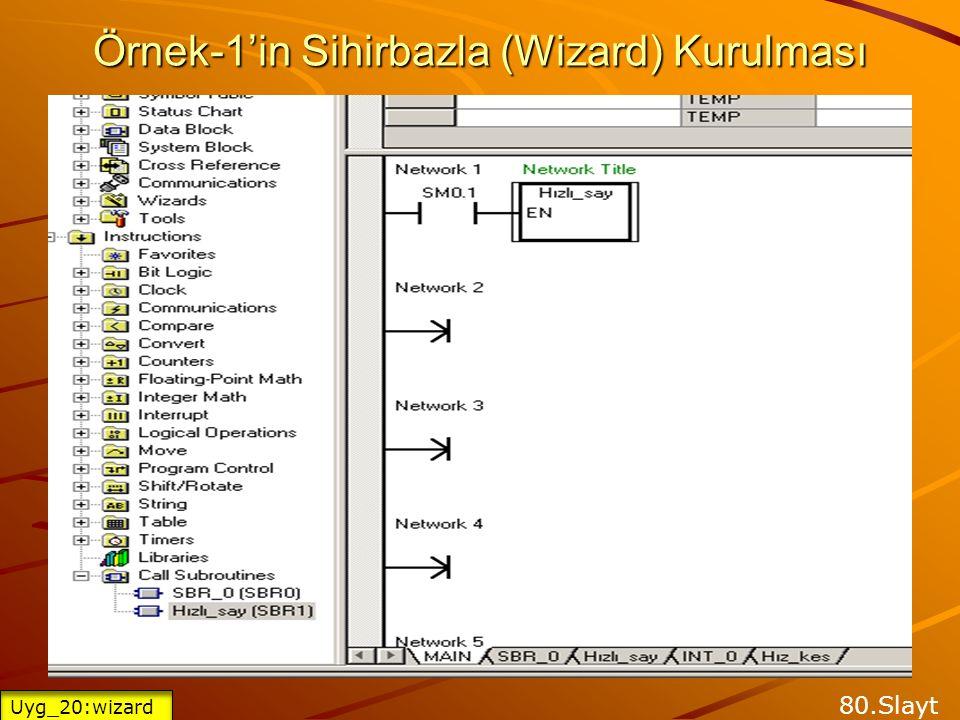 Örnek-1'in Sihirbazla (Wizard) Kurulması 79.Slayt Uyg_20:wizard