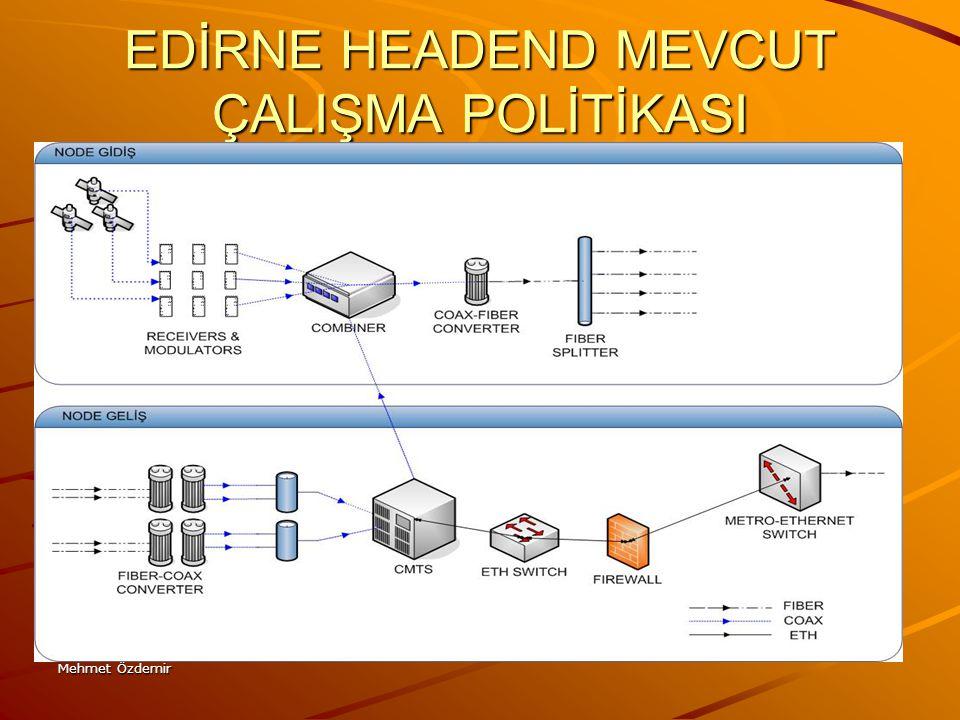 Mehmet Özdemir GENEL BAKIŞ Kablo karakteristiğinin Türkiye'nin her yerinde homojen yapıda olduğunu beklemiyoruz.