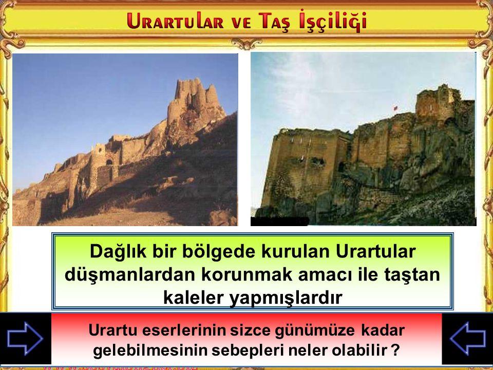 Urartular Doğu Anadolu'da kurulmuş medeniyettir Urartular Doğu Anadolu'da kurulmuş medeniyettir Urartuların yaşadığı bölge hakkında neler söyleyebilir