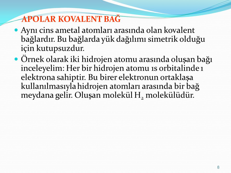 Bileşiğin polarlığı: İyonik bileşiklerin tamamı polardır.
