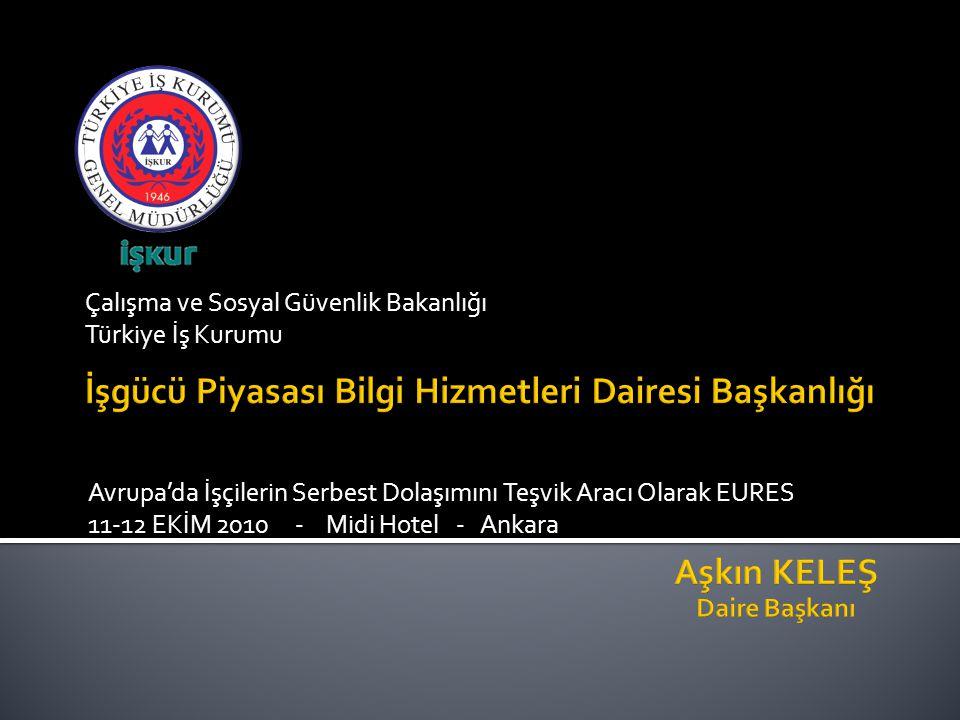 Çalışma ve Sosyal Güvenlik Bakanlığı Türkiye İş Kurumu Avrupa'da İşçilerin Serbest Dolaşımını Teşvik Aracı Olarak EURES 11-12 EKİM 2010 - Midi Hotel - Ankara