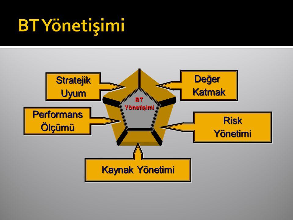 StratejikUyumStratejikUyum PerformansÖlçümüPerformansÖlçümü Kaynak Yönetimi RiskYönetimiRiskYönetimi DeğerKatmakDeğerKatmak BTYönetişimi