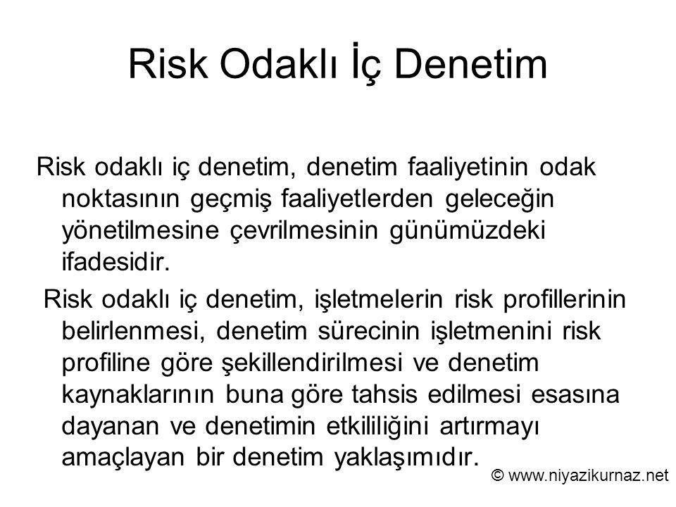 Risk Odaklı İç Denetim Risk odaklı iç denetim, denetim faaliyetinin odak noktasının geçmiş faaliyetlerden geleceğin yönetilmesine çevrilmesinin günümü