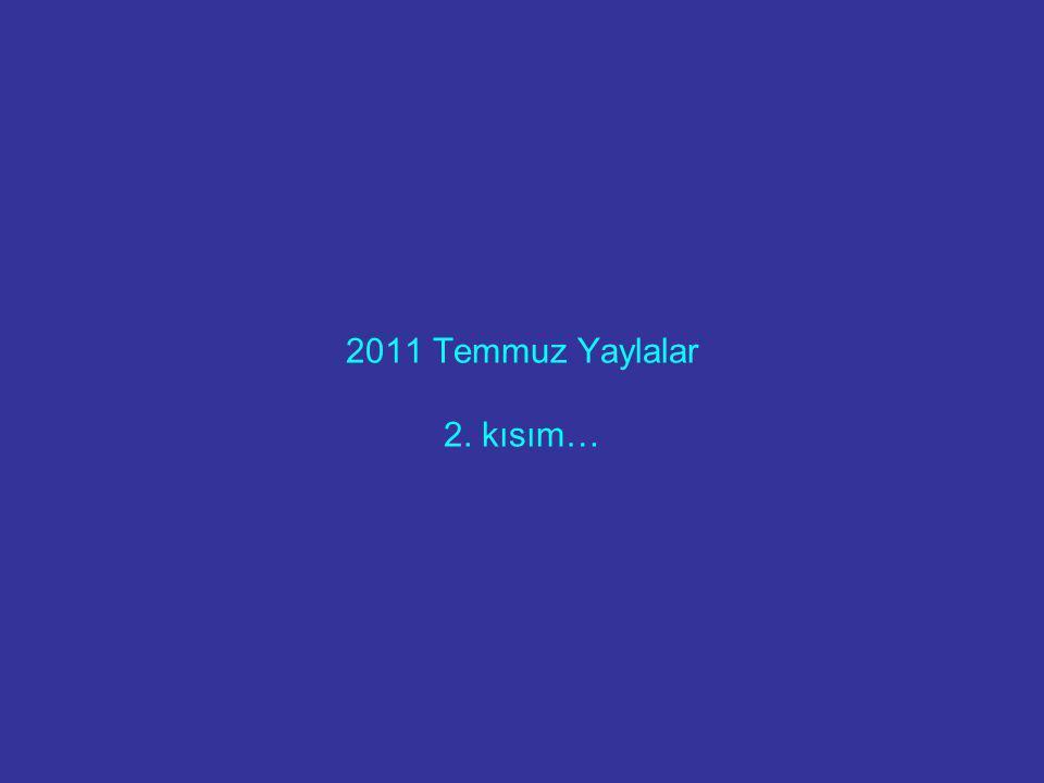2011 Temmuz Yaylalar 2. kısım…