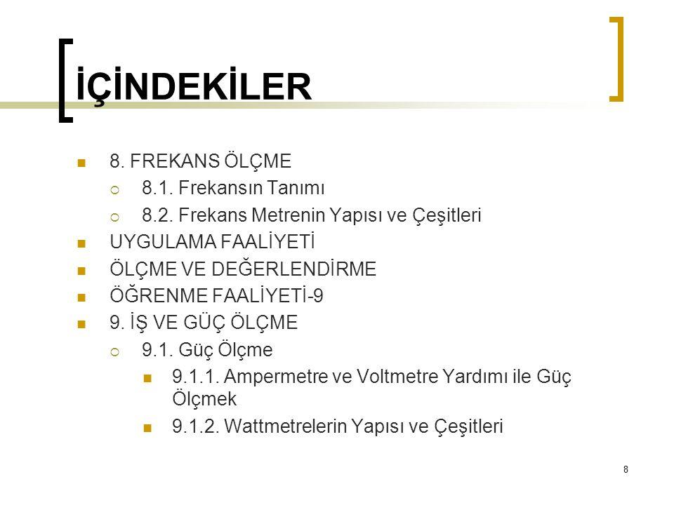 119 4.KAPASİTE ÖLÇME 4.2.