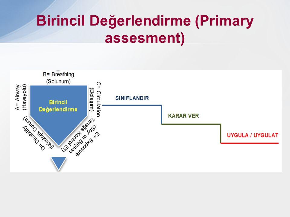 Birincil Değerlendirme (Primary assesment)