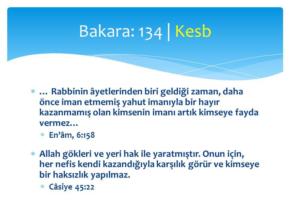  … Rabbinin âyetlerinden biri geldiği zaman, daha önce iman etmemiş yahut imanıyla bir hayır kazanmamış olan kimsenin imanı artık kimseye fayda vermez…  En'âm, 6:158  Allah gökleri ve yeri hak ile yaratmıştır.