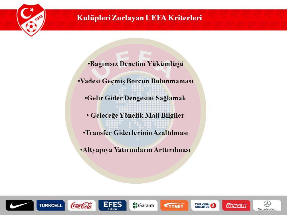 Kulüpleri Zorlayan UEFA Kriterleri Bağımsız Denetim Yükümlüğü Vadesi Geçmiş Borcun Bulunmaması Gelir Gider Dengesini Sağlamak Geleceğe Yönelik Mali Bi