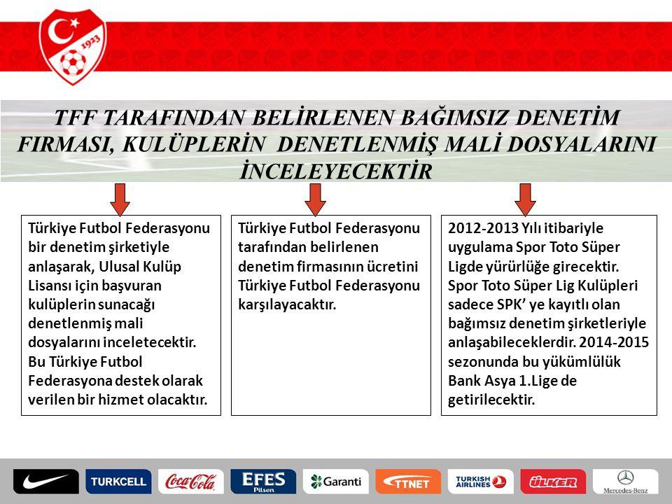 TFF TARAFINDAN BELİRLENEN BAĞIMSIZ DENETİM FIRMASI, KULÜPLERİN DENETLENMİŞ MALİ DOSYALARINI İNCELEYECEKTİR Türkiye Futbol Federasyonu bir denetim şirk