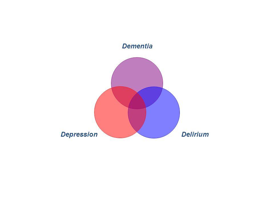 Dementia DeliriumDepression