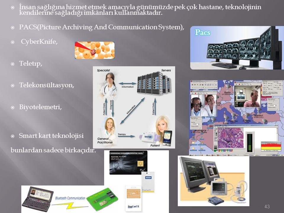  İnsan sağlığına hizmet etmek amacıyla günümüzde pek çok hastane, teknolojinin kendilerine sağladığı imkânları kullanmaktadır.  PACS(Picture Archivi