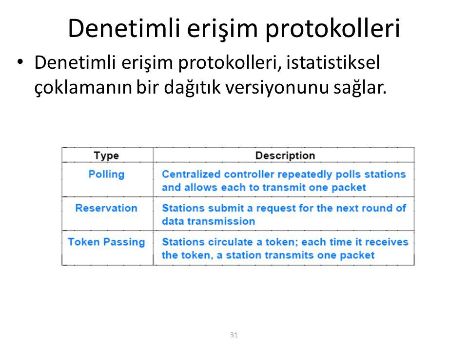 31 Denetimli erişim protokolleri Denetimli erişim protokolleri, istatistiksel çoklamanın bir dağıtık versiyonunu sağlar.