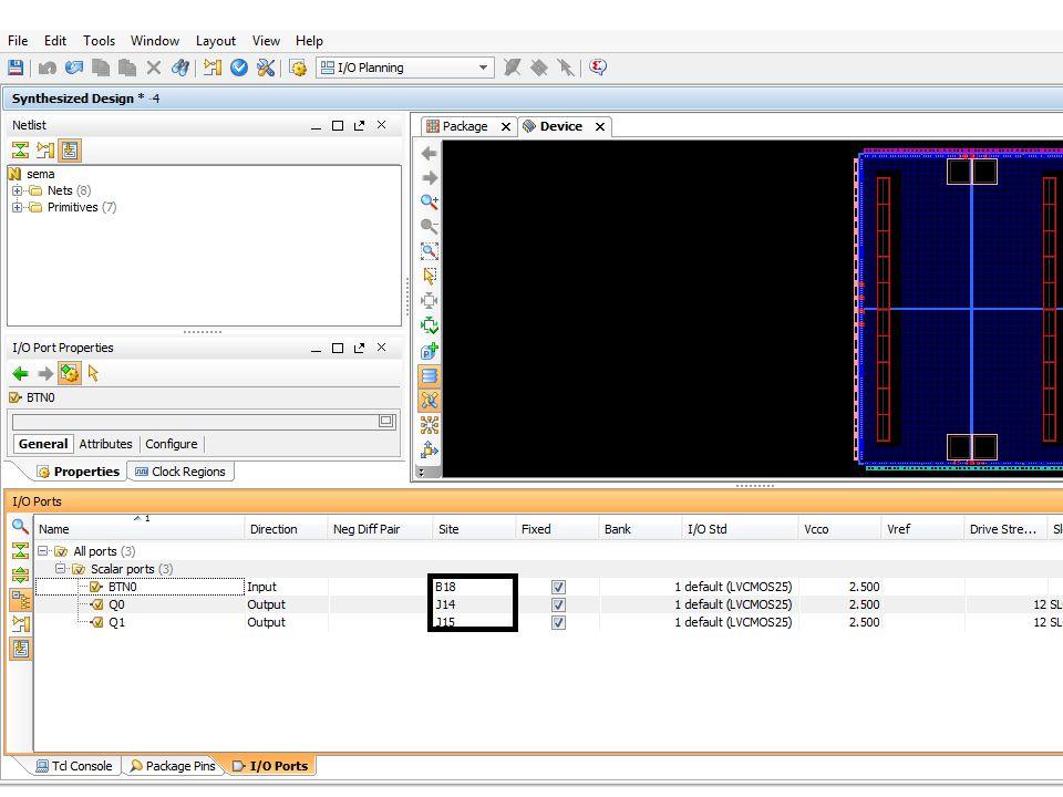 Projenin kaydedildiği klasör içerisindeki 'şematik_dosya_adı.ucf' uzantılı -Örneğin; sema.ucf- dosya çift tıklayarak açılır.