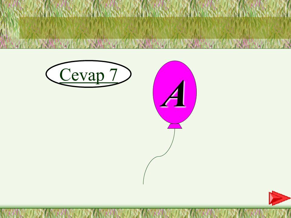 7.SORU 7-Aşağıdaki sözcüklerden hangisinde vurgu 2.