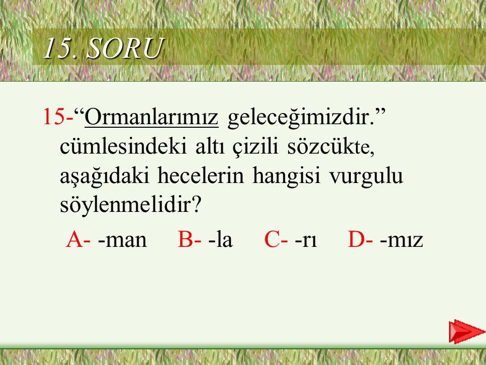 C Cevap 14