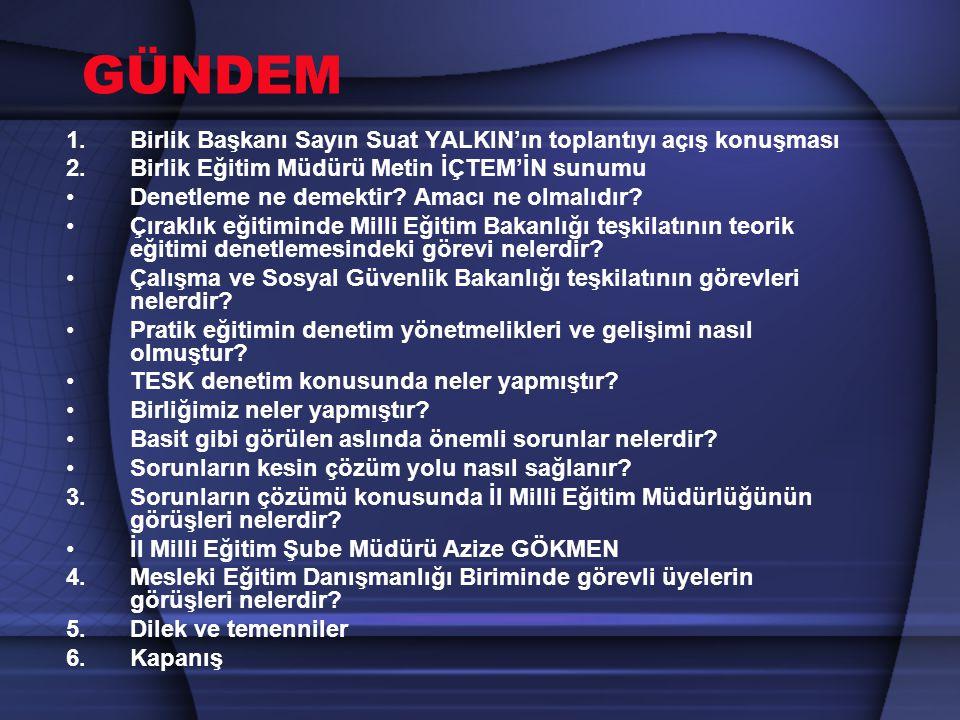 ÇIRAKLIK EĞİTİMİNDE DENETİM İŞLEMLERİ GİRİŞ Türk dil kurumu tarafından Denetleme Bir işin doğru ve yönetime uygun olarak yapılıp yapılmadığını incelemek, murakabe etmek, teftiş etmek, kontrol etmek şeklinde tanımlanmaktadır.