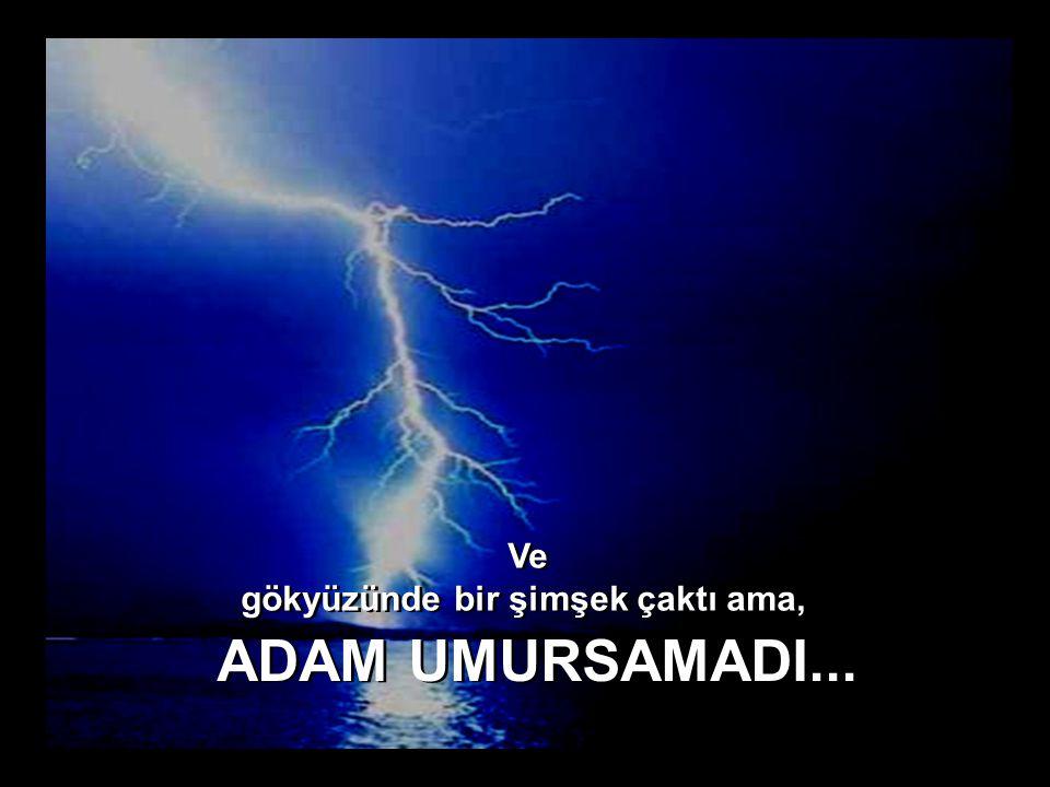 Ve gökyüzünde bir şimşek çaktı ama, Ve gökyüzünde bir şimşek çaktı ama, ADAM UMURSAMADI...