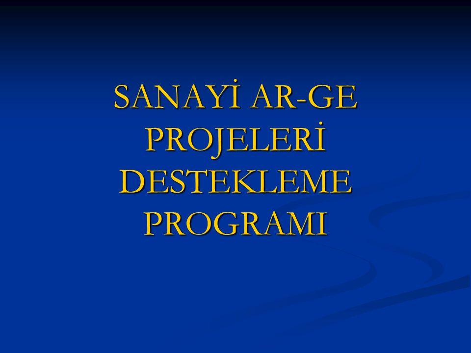 SANAYİ AR-GE PROJELERİ DESTEKLEME PROGRAMI