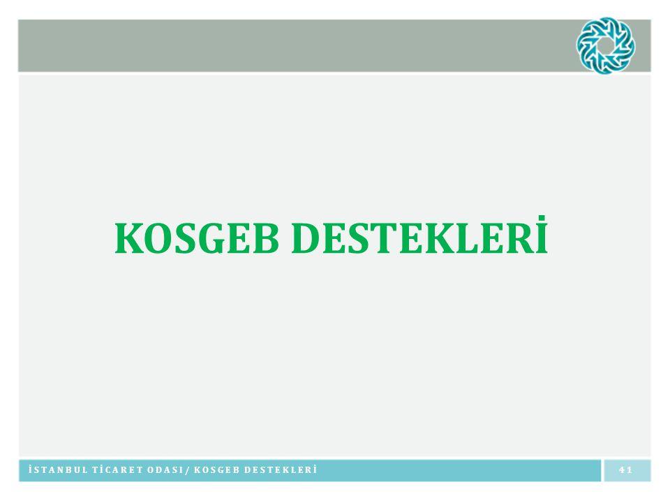 KOSGEB DESTEKLERİ İSTANBUL TİCARET ODASI/ KOSGEB DESTEKLERİ41