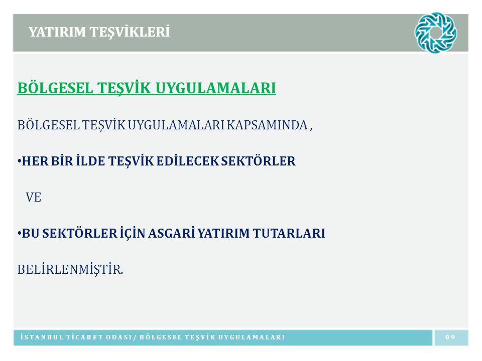 İSTİHDAM TEŞVİKLERİ İSTANBUL TİCARET ODASI/ İSTİHDAM TEŞVİKLERİ60