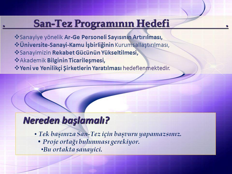 San-Tez Programının Hedefi.